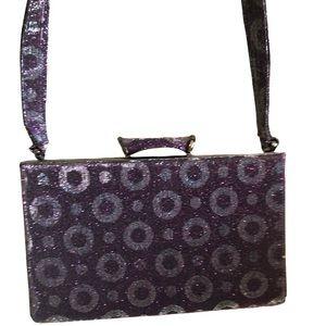 Purple Silver Y2K Mini Shoulder Bag